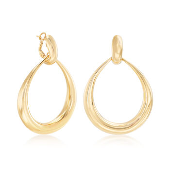 """Roberto Coin """"Oro Classic"""" 18kt Yellow Gold Circle Drop Earrings. 2"""", , default"""