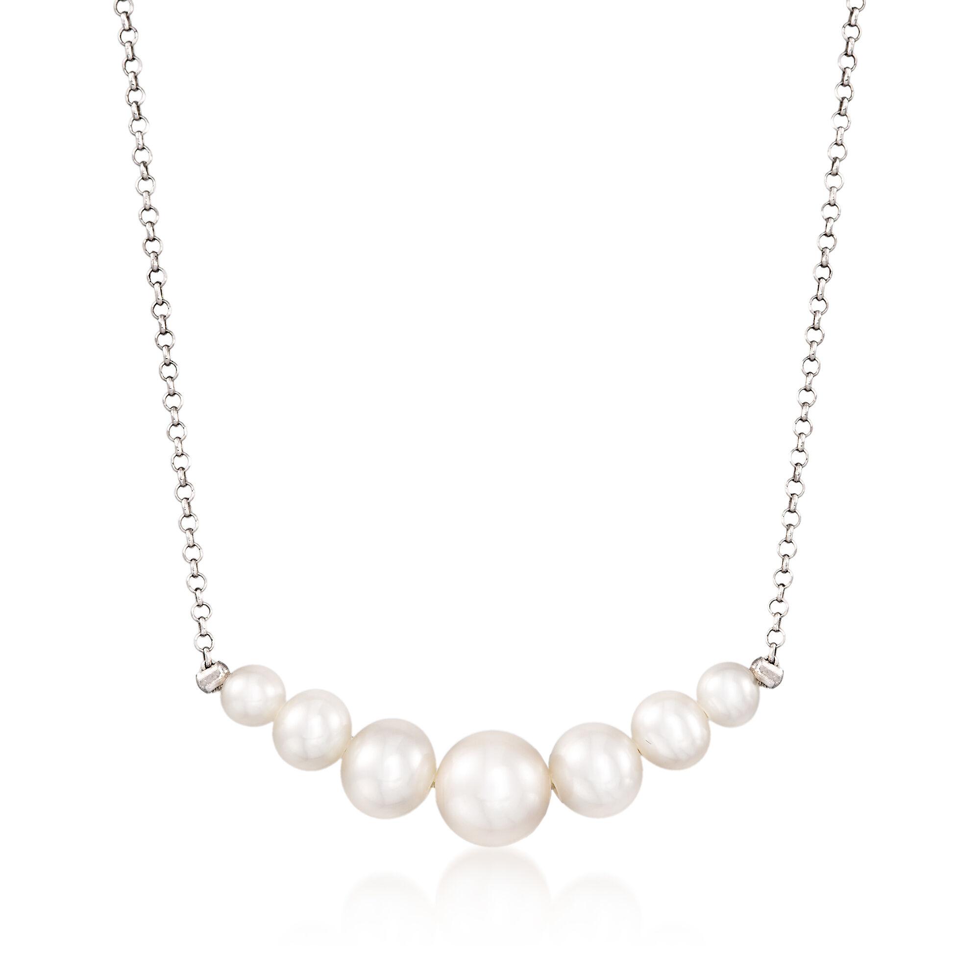Simons Long pearly necklace da90vHtp5a