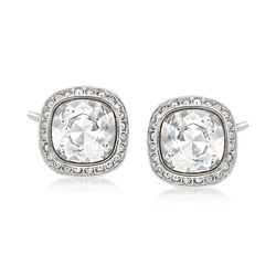 "Swarovski Crystal ""Latitude"" Stud Earrings in Silvertone, , default"