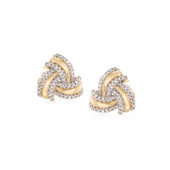 .25 ct. t.w. Diamond Love Knot Earrings in 14kt Yellow Gold, , default