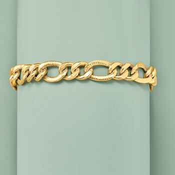 Italian 4.5mm 14kt Yellow Gold Cable-Link Bracelet