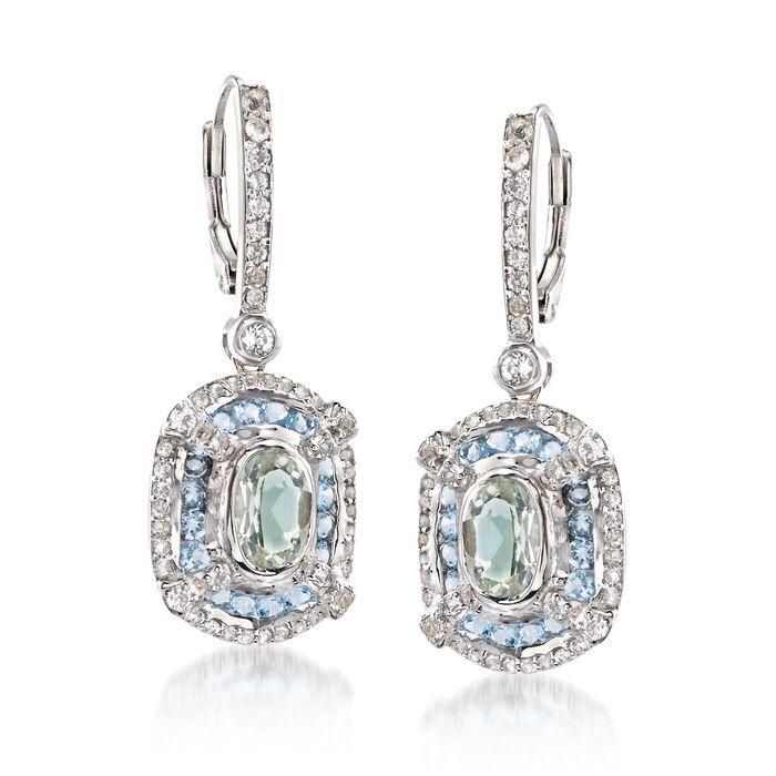 2.44 ct. t.w. Multi-Stone Drop Earrings in Sterling Silver