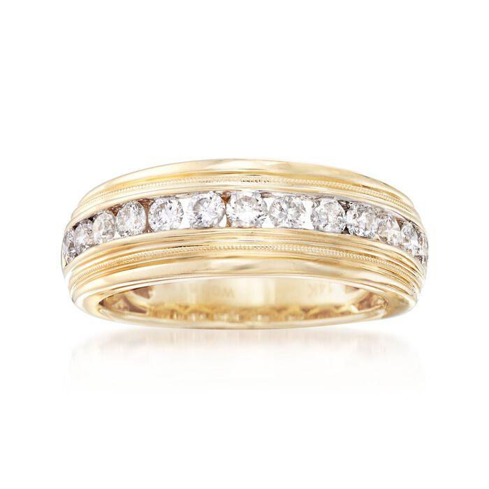 Men's 1.00 ct. t.w. Diamond Wedding Ring in 14kt Yellow Gold