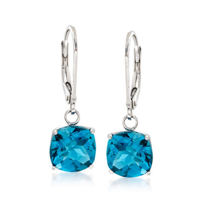 5.00 ct. t.w. London Blue Topaz Drop Earrings in Sterling Silver, , default