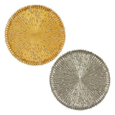 Jeweled Bamboo-Style Hedge Round Coaster