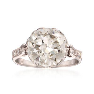 C. 1950 Vintage 4.51 ct. t.w. Diamond Ring in Platinum, , default