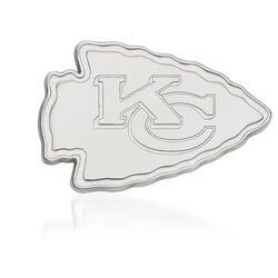 Sterling Silver NFL Kansas City Chiefs Lapel Pin, , default