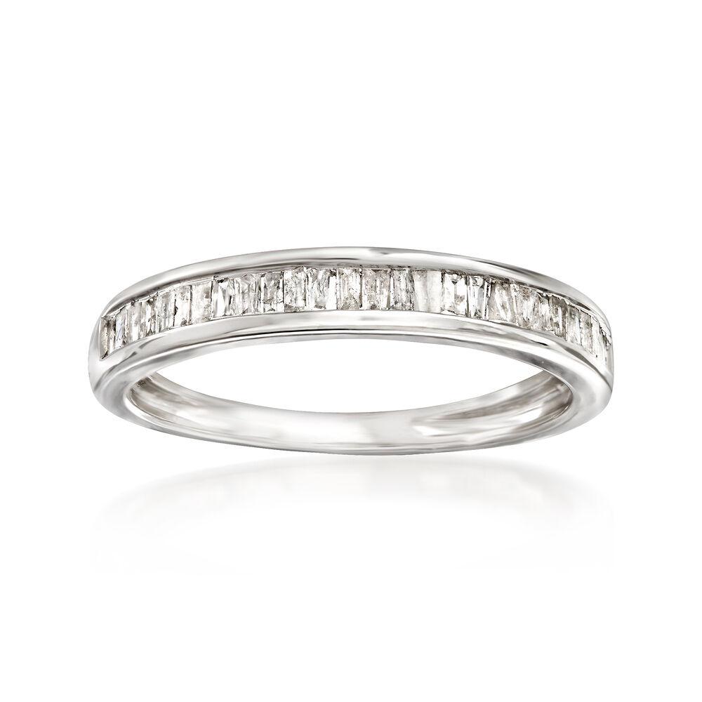 35 Ct T W Baguette Diamond Ring In Sterling Silver Ross Simons