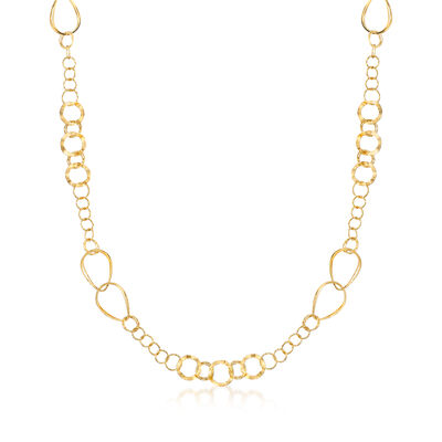 Italian 18kt Yellow Gold Multi-Link Necklace, , default