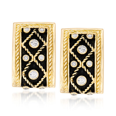 C. 1980 Vintage Yanes .45 ct. t.w. Diamond Clip-On Earrings in 18kt Yellow Gold, , default