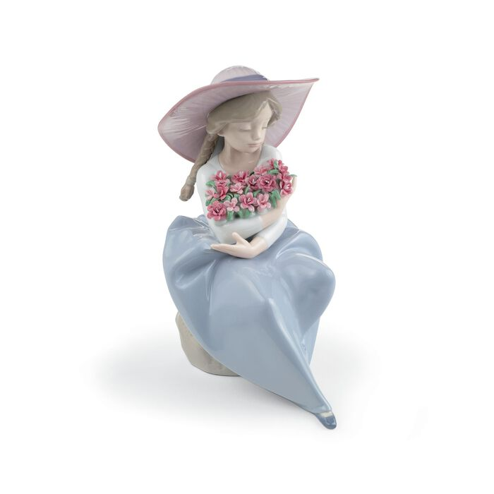 """Lladro """"Fragrant Bouquet -Carnations"""" Special Edition Porcelain Figurine"""