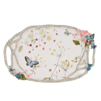 "Fitz and Floyd ""Butterfly Fields"" Platter"
