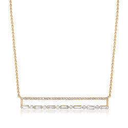 .43 ct. t.w. Diamond Double-Row Bar Necklace in 14kt Yellow Gold, , default