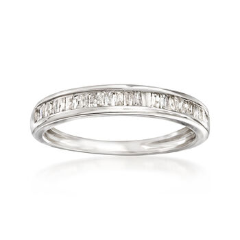 .35 ct. t.w. Baguette Diamond Ring in Sterling Silver, , default