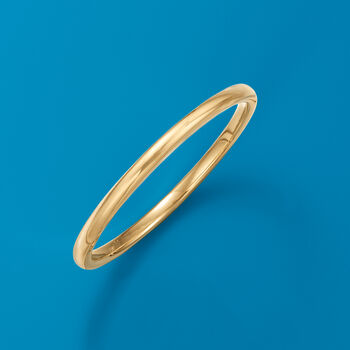 "Italian Andiamo 14kt Yellow Gold Bangle Bracelet. 7.5"", , default"