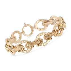 "14kt Yellow Gold Over Sterling Silver Oval Link Bracelet. 7"", , default"