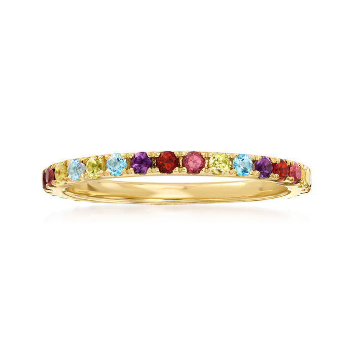 .70 ct. t.w. Multi-Stone Eternity Band in 14kt Yellow Gold