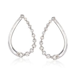 .29 ct. t.w. Diamond Teardrop Earrings in 14kt White Gold, , default