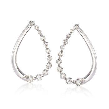 .29 ct. t.w. Diamond Teardrop Earrings in 14kt White Gold , , default