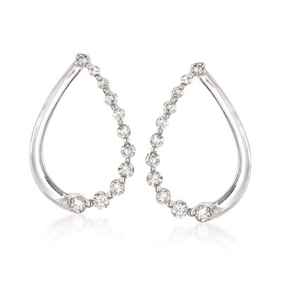.29 ct. t.w. Diamond Teardrop Earrings in 14kt White Gold, , default