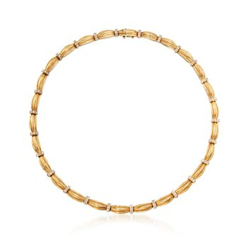 "C. 1992 Vintage Tiffany Jewelry 4.30 ct. t.w. Diamond Station Necklace in 18kt Yellow Gold. 16.5"", , default"