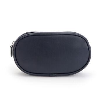 Royce Blue Leather Belt Bag, , default