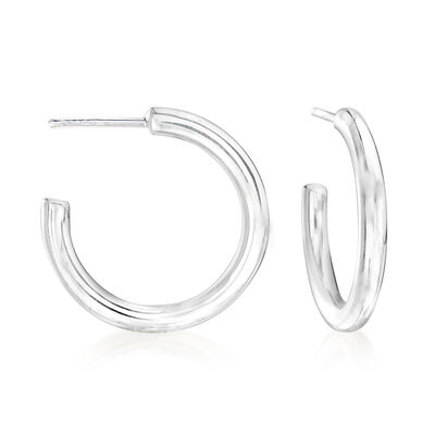 Zina Sterling Silver Hoop Earrings, , default
