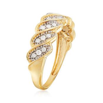 .25 ct. t.w. Diamond Twist Ring in 14kt Yellow Gold