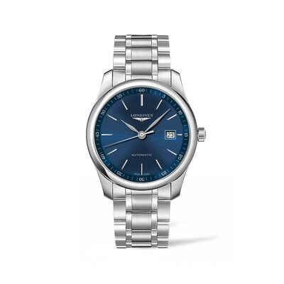 Longines Master Men's 40mm Automatic Stainless Steel Watch - Blue Dial , , default