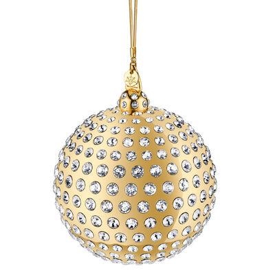 Crystamas Swarovski Crystal 24kt Gold-Plated Ball Ornament