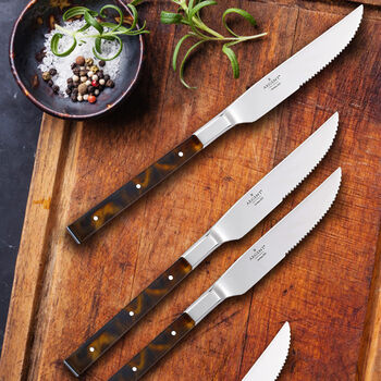 "Argent Orfevres ""St. Laurent"" 4-pc. 18/10 Stainless Steel Steak Knife Set, , default"