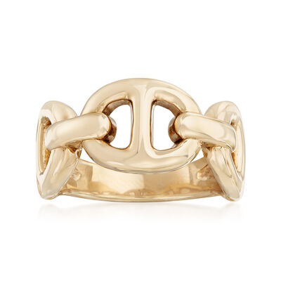 14kt Yellow Gold Marine-Link Ring, , default