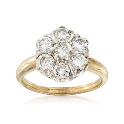C. 1980 Vintage 1.85 ct. t.w. Diamond Ring in 14kt Yellow Gold, , default