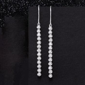 .50 ct. t.w. Diamond Linear Drop Earrings in Sterling Silver