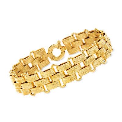 Italian 14kt Yellow Gold Panther-Link Bracelet