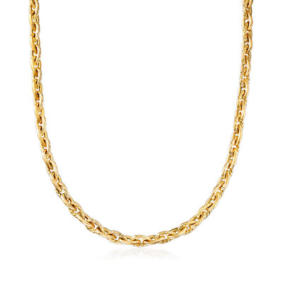 "Phillip Gavriel ""Italian Cable"" Cable-Link Necklace in 14kt Yellow Gold"