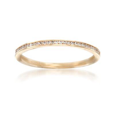 Henri Daussi .10 ct. t.w. Diamond Wedding Ring in 14kt Yellow Gold, , default