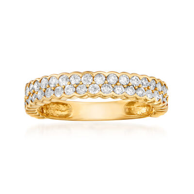 1.00 ct. t.w. Diamond Double-Row Ring in 14kt Yellow Gold