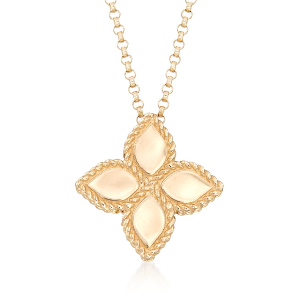 "Roberto Coin ""Princess"" 18kt Yellow Gold Medium Flower ..."