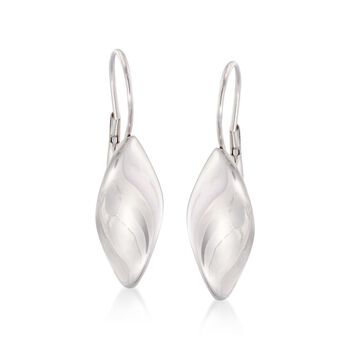 Italian Sterling Silver Twist Drop Earrings , , default