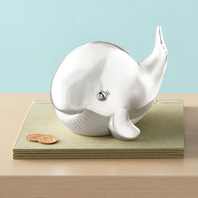 "Reed and Barton ""Mystic Sea"" Child's Whale Bank, , default"