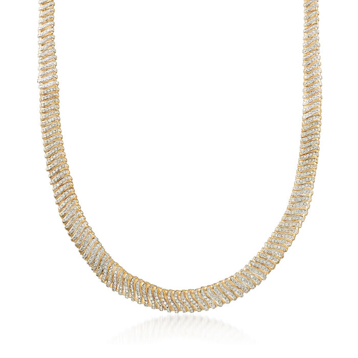 5.00 ct. t.w. Diamond Flex Necklace in 14kt Yellow Gold