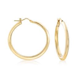 Italian 14kt Yellow Gold Hoop Earrings , , default
