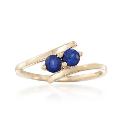 .40 ct. t.w. Sapphire Two-Stone Ring in 14kt Yellow Gold, , default