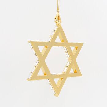 Crystamas Swarovski Crystal 24kt Gold-Plated Star of David Ornament , , default