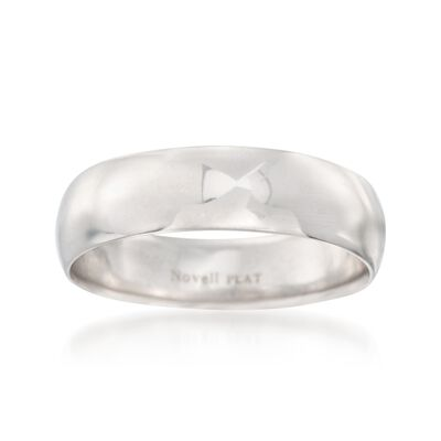 Men's 6mm Platinum Wedding Ring, , default