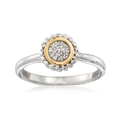 "Phillip Gavriel ""Popcorn"" Diamond-Accented Ring in Sterling Silver and 18kt Gold"