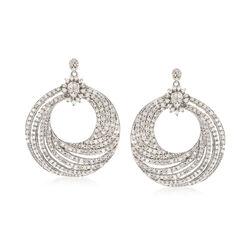 2.00 ct. t.w. Diamond Swirl Drop Earrings in Sterling Silver, , default