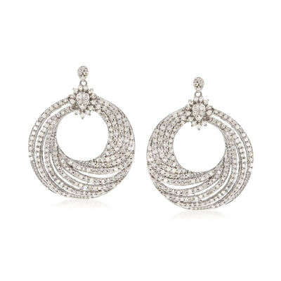 2.00 ct. t.w. Diamond Swirl Drop Earrings in Sterling Silver, , default
