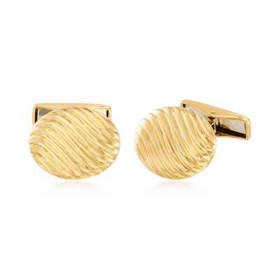 C. 1980 Vintage Tiffany Jewelry 18kt Yellow Gold Cuff Links, , default